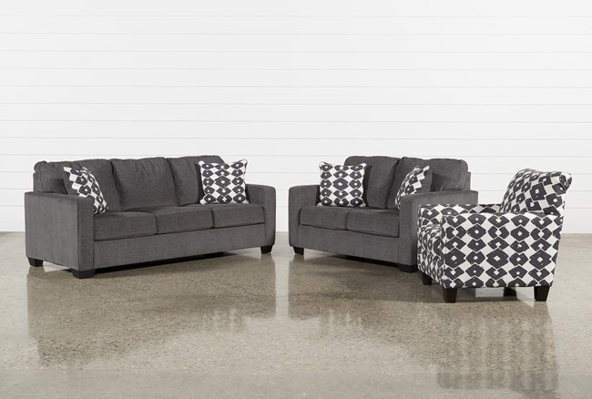 Turdur 3 Piece Living Room Set - 360