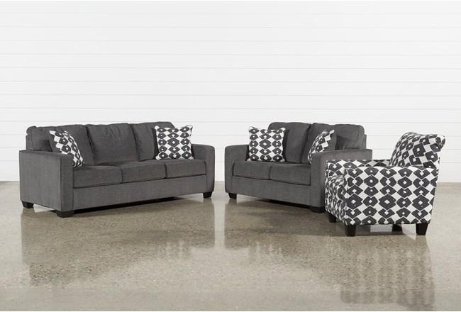 Turdur 3 Piece Living Room Set With Queen Sleeper - 360