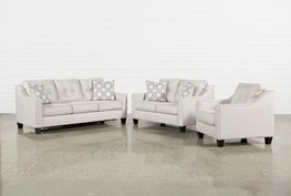 Linday Park 3 Piece Living Room Set With Arm Chair