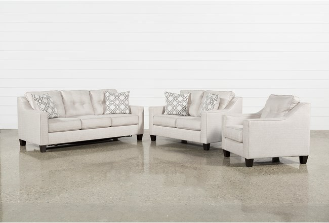 Linday Park 3 Piece Living Room Set With Arm Chair - 360