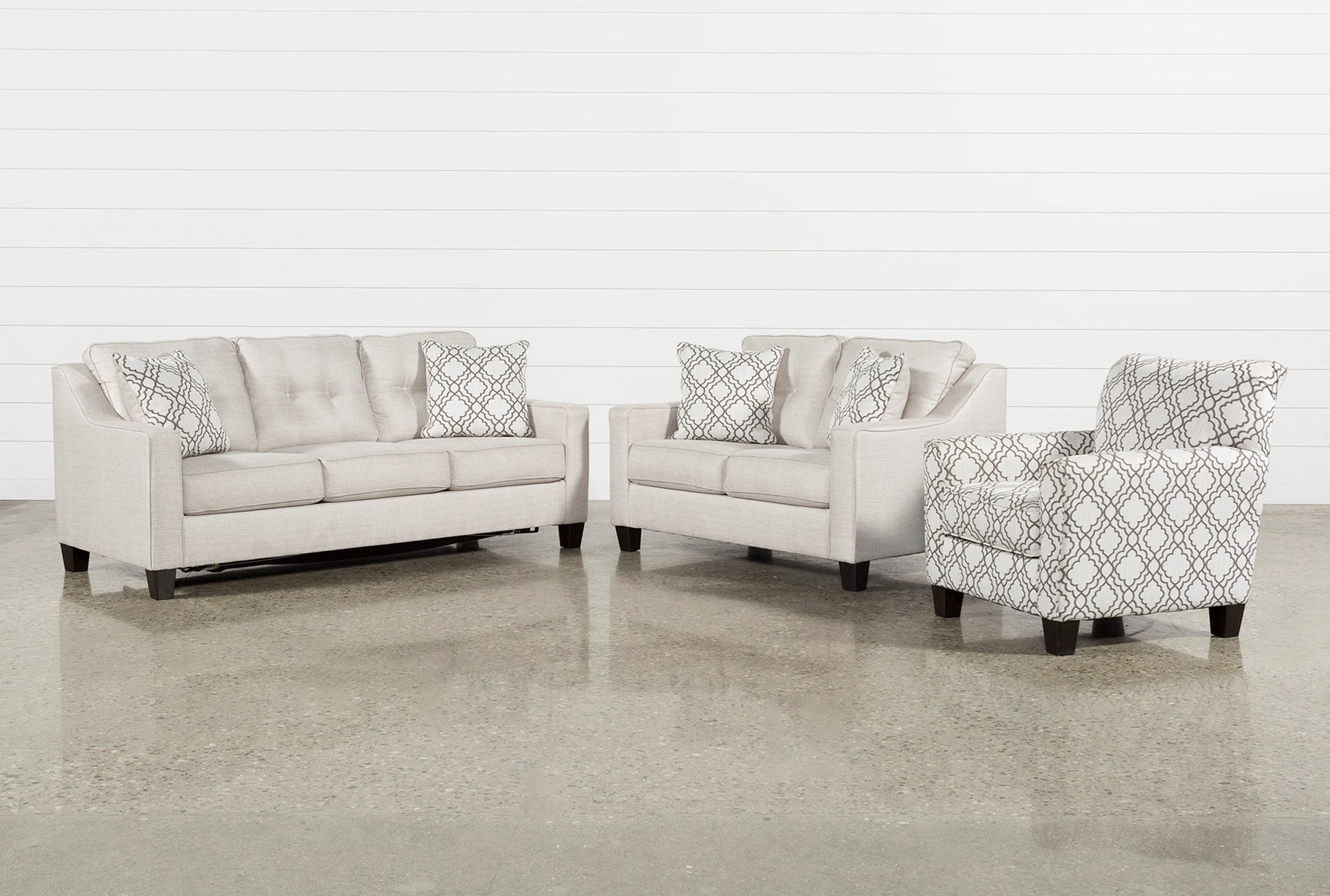 Linday Park 3 Piece Living Room Set With Queen Sleeper And Accent Chair