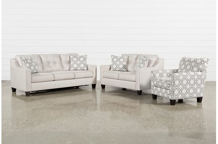 Linday Park 3 Piece Living Room Set With Queen Slrp And Accent Chair