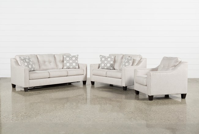 Linday Park 3 Piece Living Room Set With Queen Sleeper And Arm Chair - 360