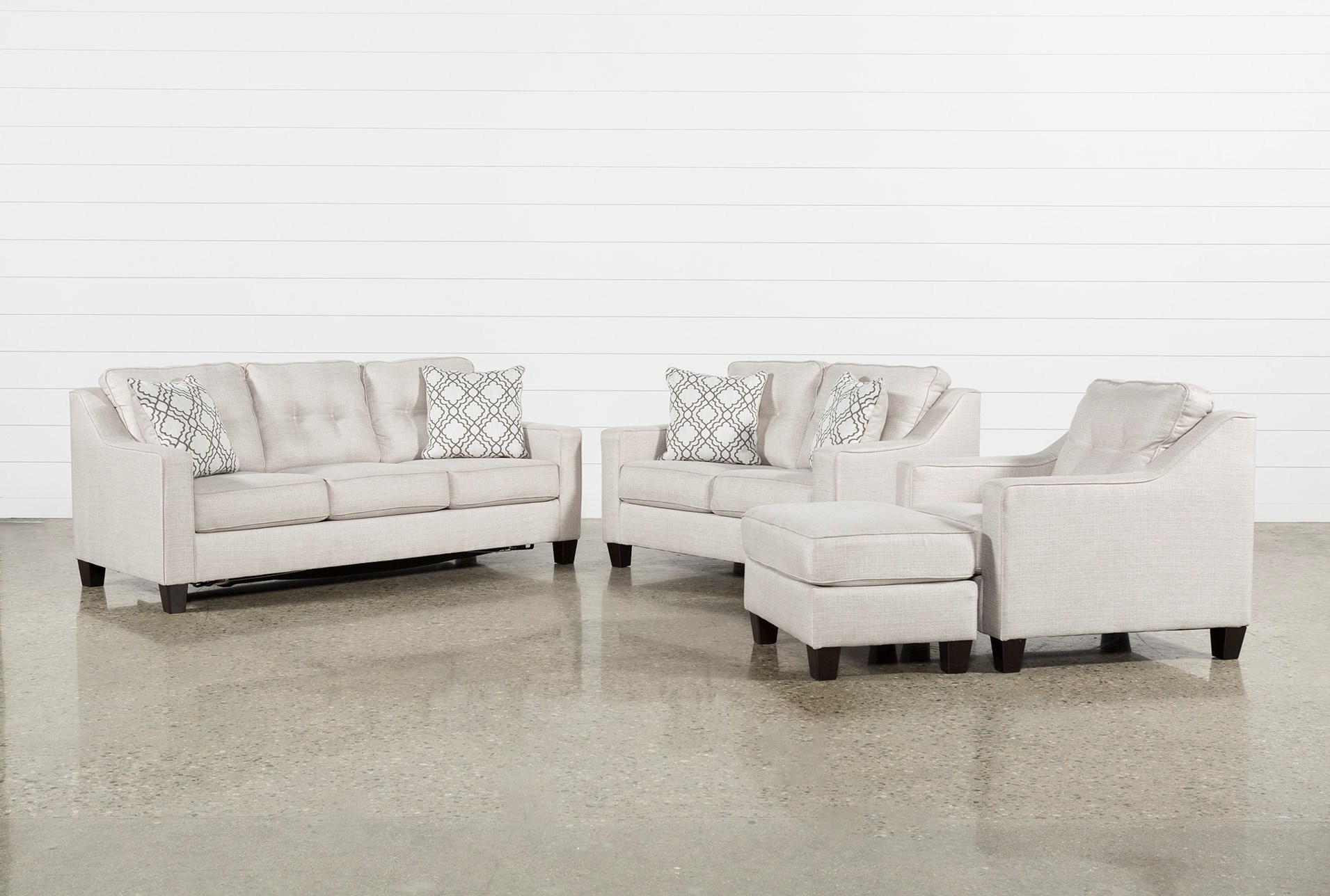 4 piece living room set cheap linday park piece living room set with queen sleeper sets spaces