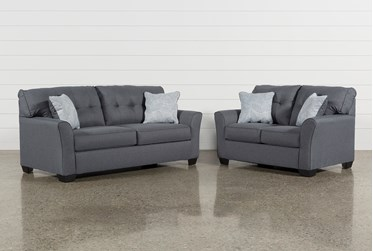 Jacoby Gunmetal 2 Piece Living Room Set