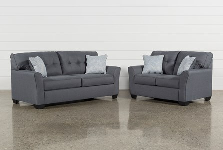 Jacoby Gunmetal 2 Piece Living Room Set