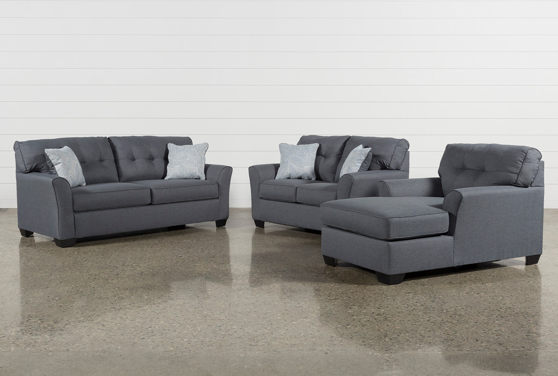 Jacoby Gunmetal 3 Piece Living Room Set Qty 1 Has Been Successfully Added To Your Cart
