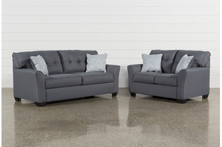 Jacoby Gunmetal 2 Piece Living Room Set With Full Sleeper
