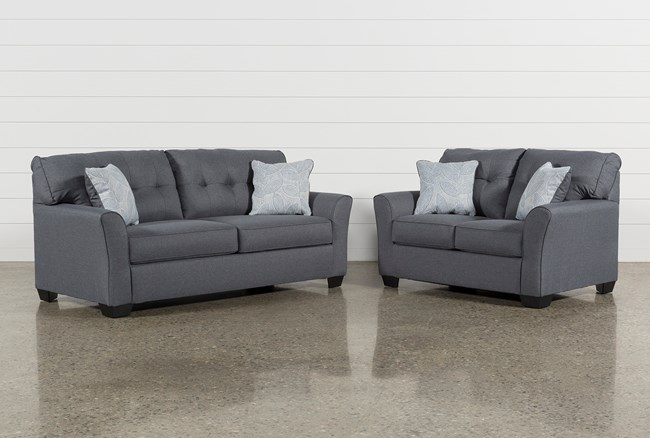 Jacoby Gunmetal 2 Piece Living Room Set With Full Sleeper - 360