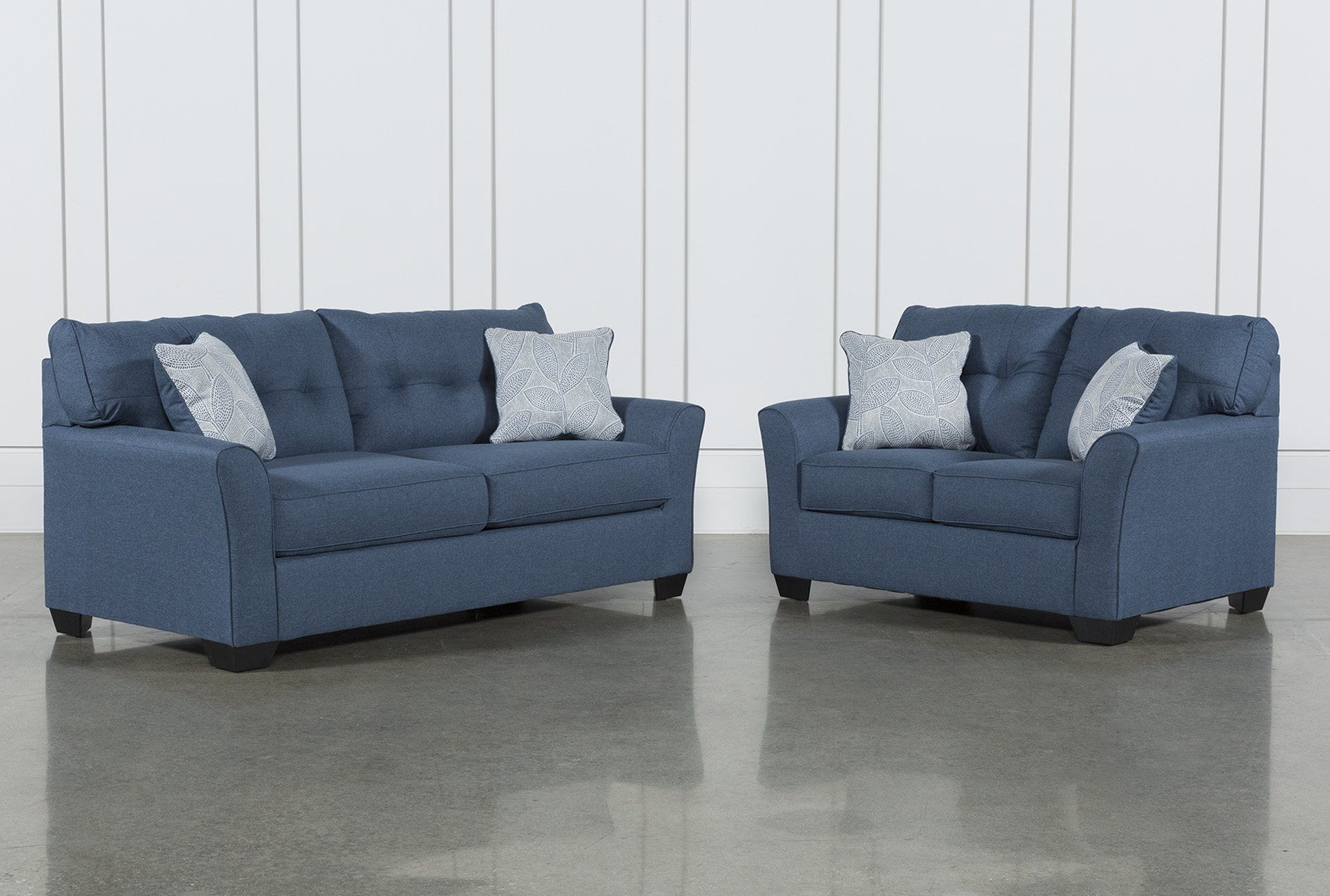 Picture of: Jacoby Denim 2 Piece Living Room Set Living Spaces
