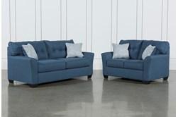 Jacoby Denim 2 Piece Living Room Set