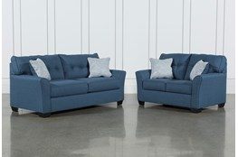 Jacoby Denim 2 Piece Living Room Set