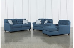 Jacoby Denim 3 Piece Living Room Set