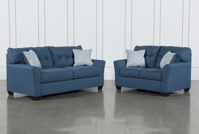 Jacoby Denim 2 Piece Living Room Set With Full Sleeper - 360