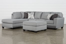 Mcdade Ash Left Facing Sectional With Oversized Accent Ottoman