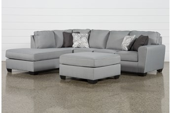 Mcdade Ash Left Arm Facing Sectional With Oversized Accent Ottoman