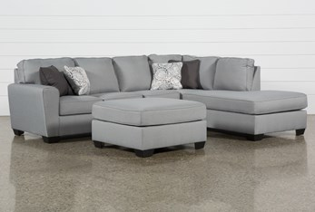 Mcdade Ash Right Arm Facing Sectional With Oversized Accent Ottoman