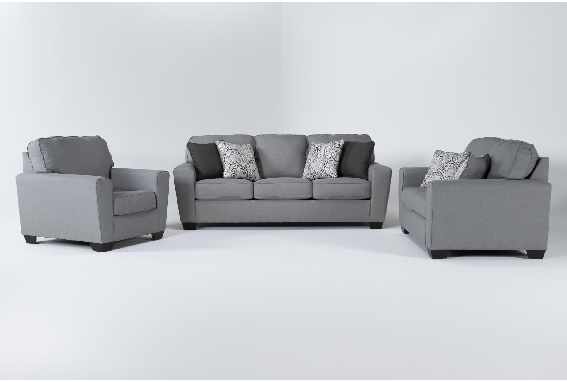 Mcdade Ash 3 Piece Living Room Set, Comfort Living Furniture San Leandro