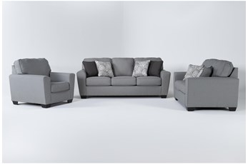 Mcdade Ash 3 Piece Living Room Set