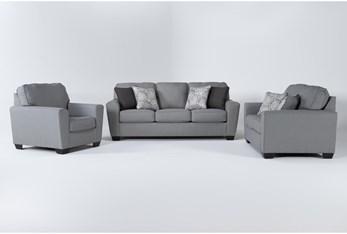Mcdade Ash 3 Piece Living Room Set