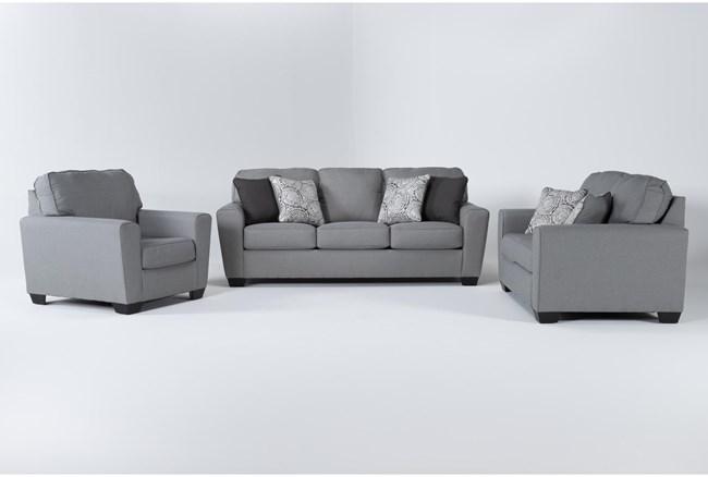 Mcdade Ash 3 Piece Living Room Set - 360