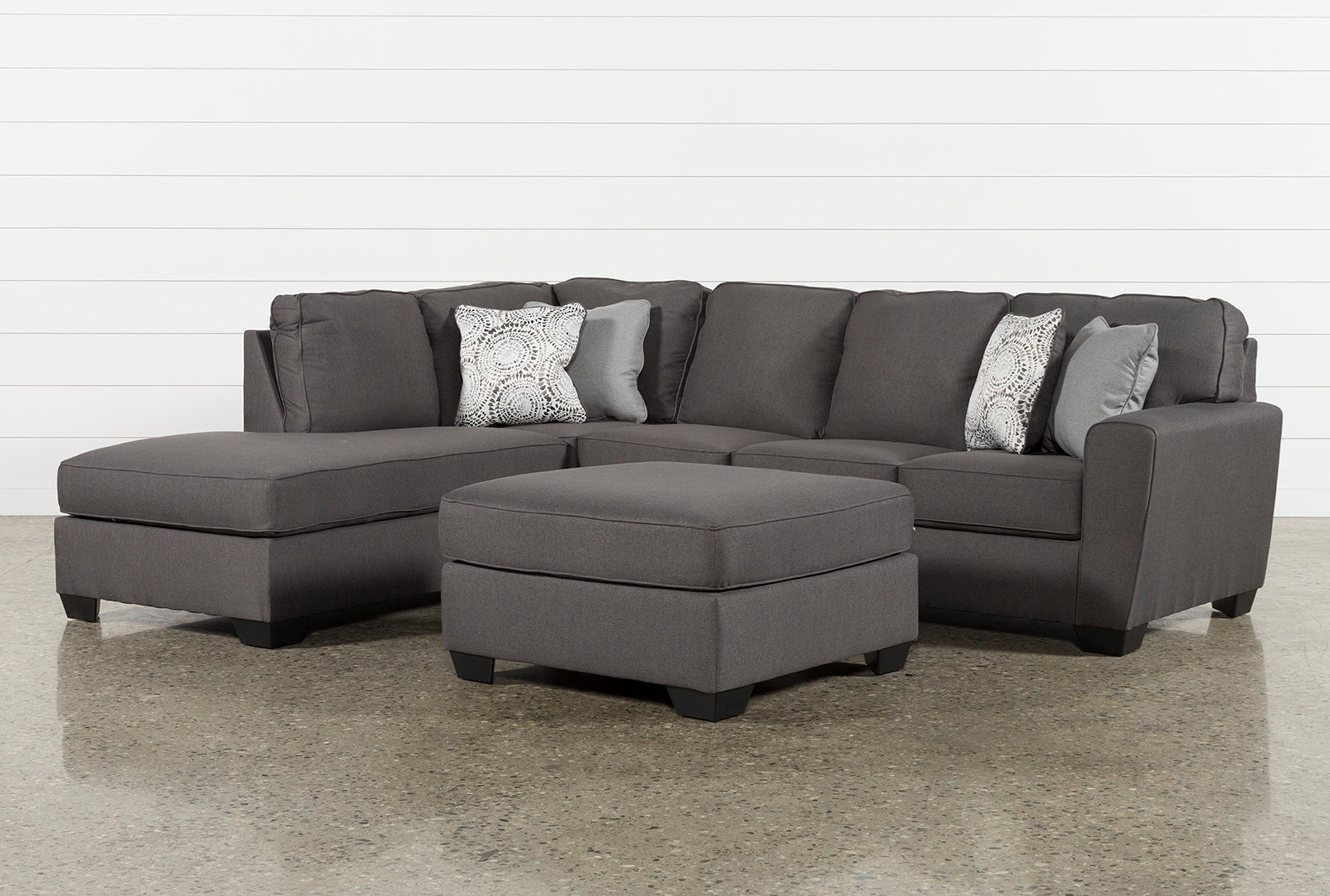Mcdade Graphite Left Facing Sectional With Oversized Accent Ottoman Qty 1 Has Been Successfully Added To Your Cart