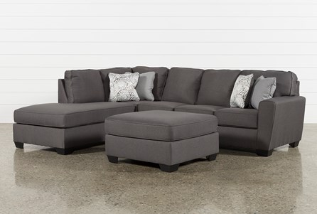 Mcdade Graphite Laf Sectional With Oversized Accent Ottoman