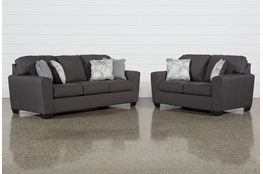 Mcdade Graphite 2 Piece Living Room Set
