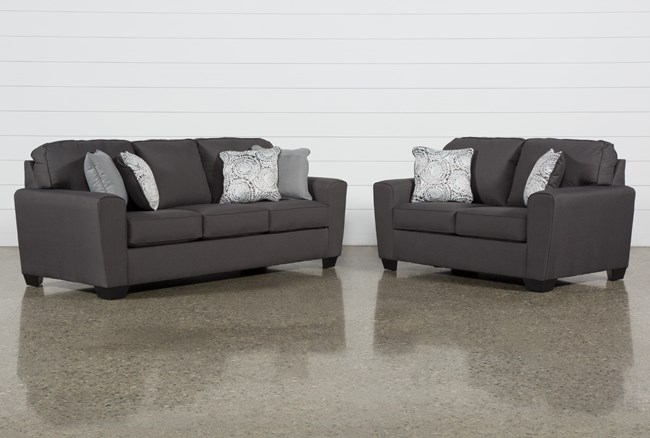 Mcdade Graphite 2 Piece Living Room Set - 360