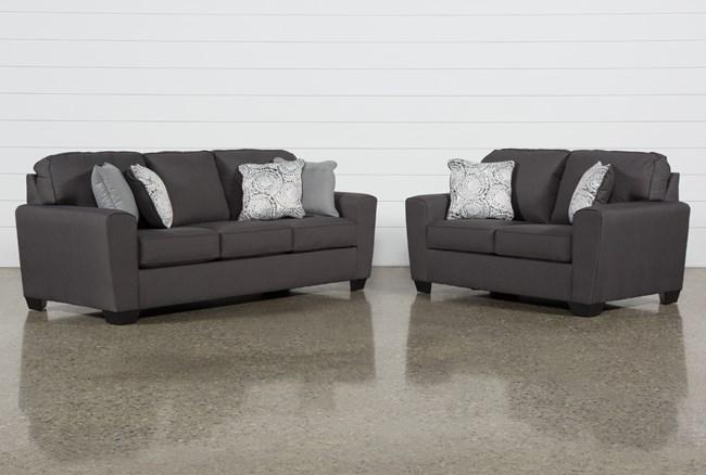 Mcdade Graphite 2 Piece Living Room Set - 360