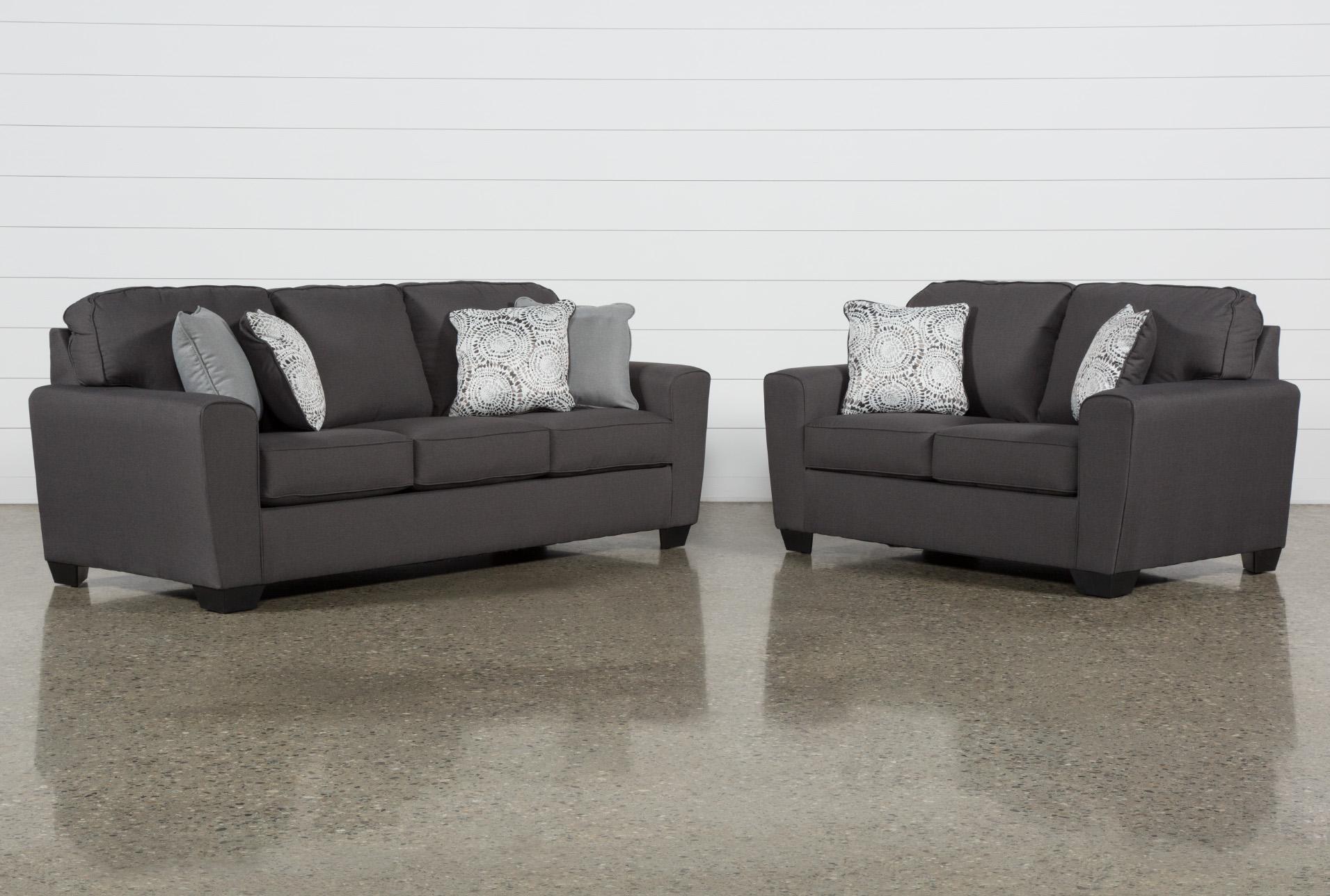 Mcdade Graphite 2 Piece Living Room Set