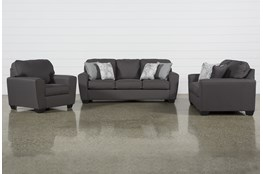 Mcdade Graphite 3 Piece Living Room Set