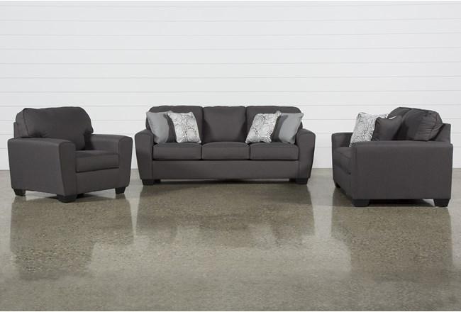 Mcdade Graphite 3 Piece Living Room Set - 360