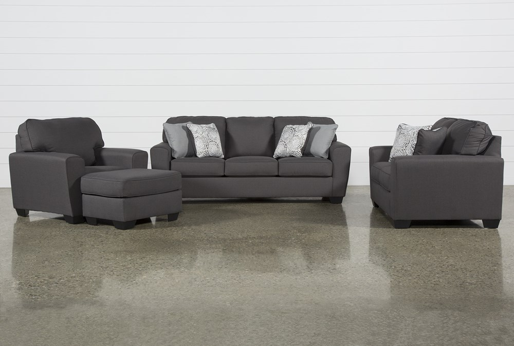 Mcdade Graphite 4 Piece Living Room Set