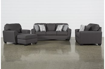 Mcdade Graphite 4 Piece Living Room Set
