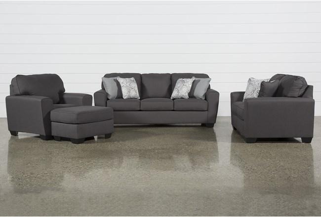 Mcdade Graphite 4 Piece Living Room Set - 360