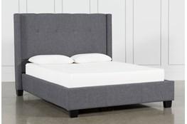 Damon Charcoal Eastern King Upholstered Platform Bed