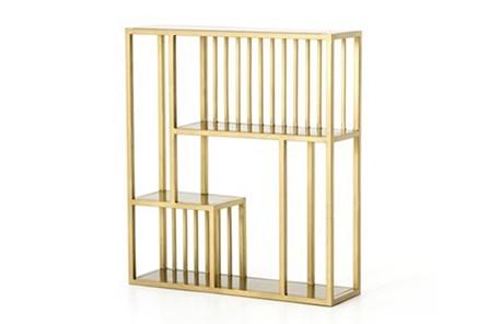 Brass Patina Wall Shelf - Main
