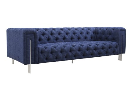 3 Seater Denim Tufted Sofa