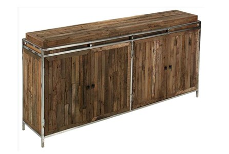 Metal Framed Reclaimed Wood Sideboard