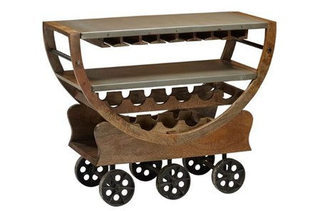 Wine Cart On Wheels - Main