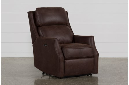 Chase Chocolate Power Recliner W/Power Headrest & Usb