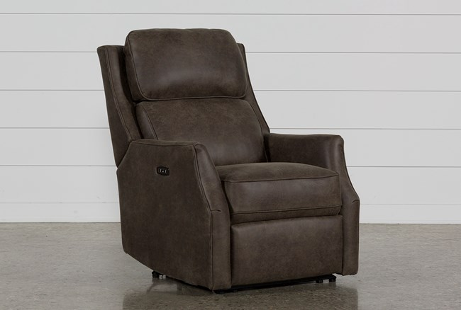 Chase Sable Power Recliner W/Power Headrest & Usb - 360