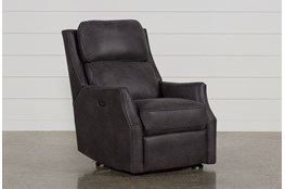 Chase Charcoal Power Recliner W/Power Headrest & Usb