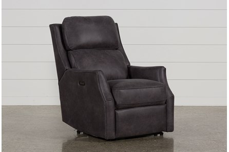 Chase Charcoal Power Recliner W/Power Headrest & Usb - Main