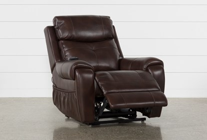 Tremendous Carl Chocolate Leather Power Lift Recliner With Power Headrest Caraccident5 Cool Chair Designs And Ideas Caraccident5Info
