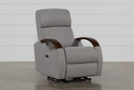 Clare Grey Power Recliner W/Power Headsrest & Usb