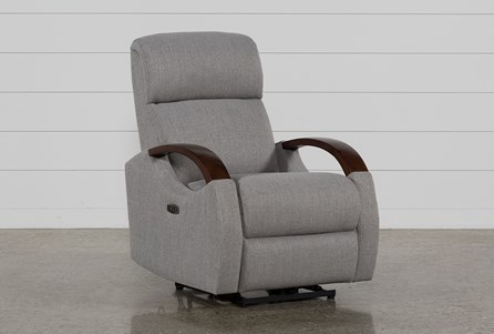 Clare Grey Power Recliner W/Power Headsrest & Usb