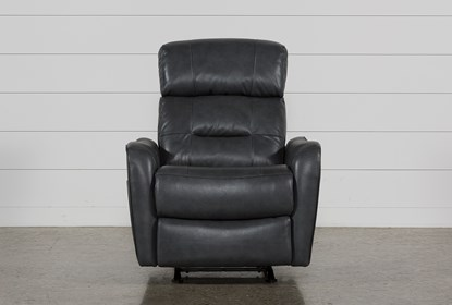 Pleasing Cici Grey Leather Power Rocker Recliner With Power Headrest Usb Squirreltailoven Fun Painted Chair Ideas Images Squirreltailovenorg