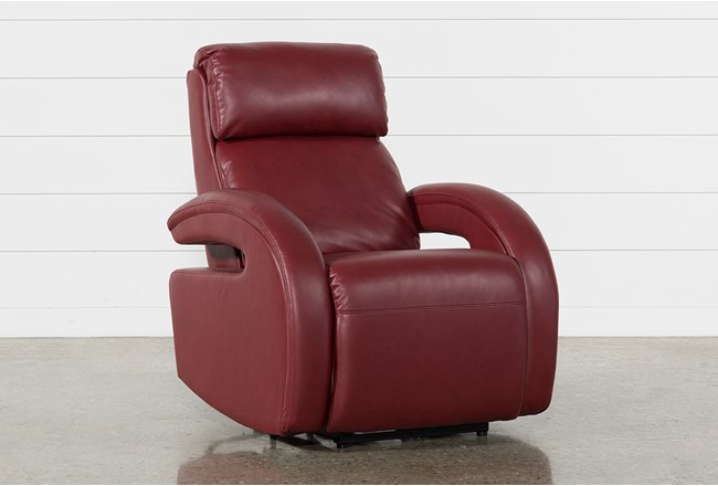 Cassie Red Power Recliner With Power Headrest Power Lumbar & USB - 360